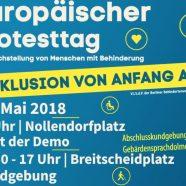 Inklusion von Anfang an – Europäischer Protesttag zur Gleichstellung von Menschen mit Behinderung