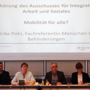 """""""Mobilität für Alle?"""" – Anhörung beim Ausschuss für Integration, Arbeit und Soziales"""